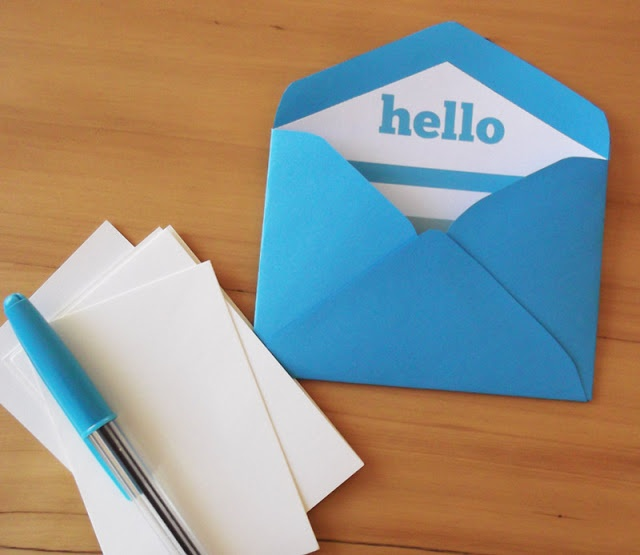 how to make mini envelopes template