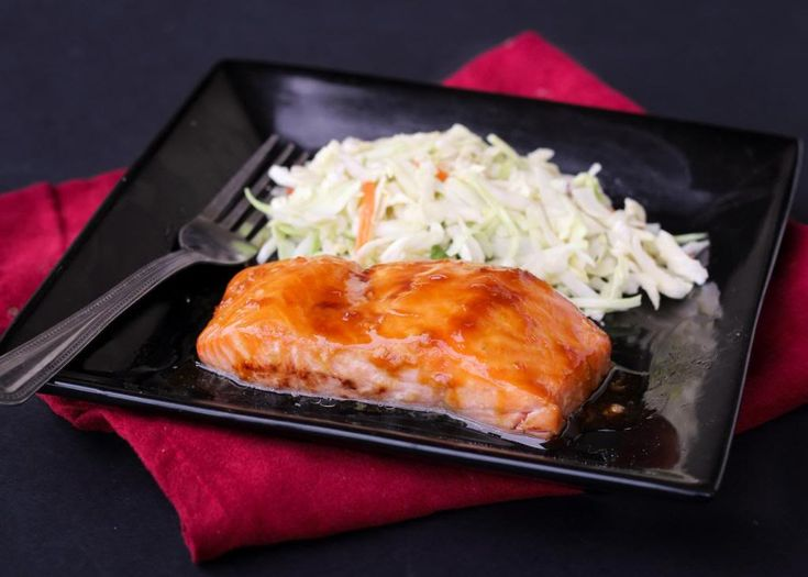 Ponzu Glazed Salmon with Miso Slaw   Fish & Seafood   Pinterest