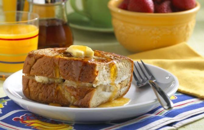 Banana Stuffed French Toast | Recipes | Pinterest