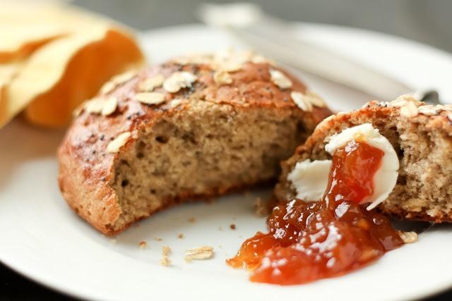 Gluten-Free Multi-Grain Bread Yields 10 rolls or two small boules