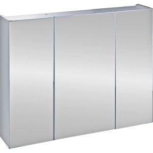 triple mirrored bathroom cabinet white from