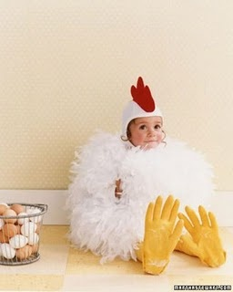 Chicken Costume. If one if my future children ever wants to be a chicken for halloween my life will be complete. #chicken #costume #halloween