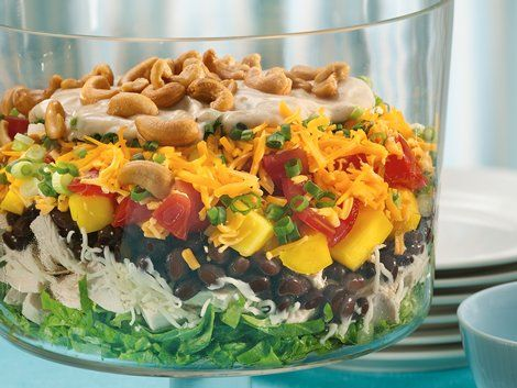 Layered Caribbean Chicken Salad - Looking for Caribbean-style dinner ...
