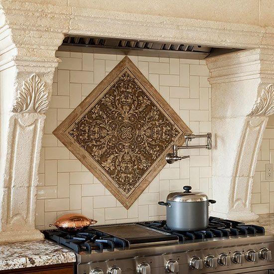 Kitchen backsplash ideas - Kitchen backsplash medallion ...