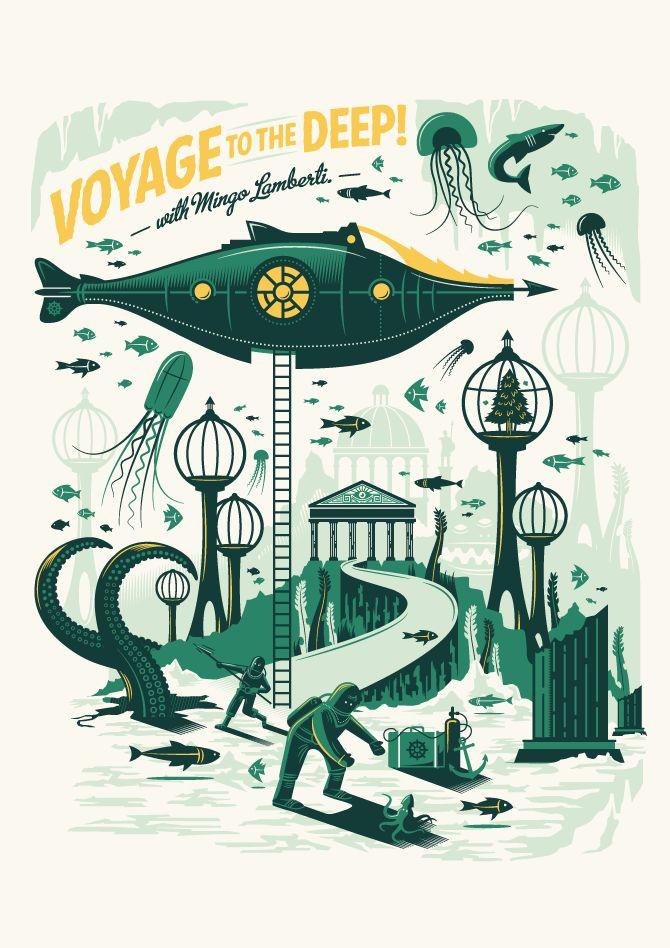Mingo Lamberti : Tales of the Sea // Design & Illustration by Adam Hill