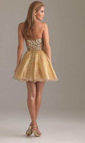 Beautiful Golden Party Dress