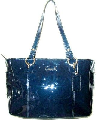 Coach patent leather blue handbag. A wonderful Christmas gift from Mom ...