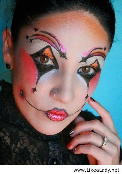 Harlequin Makeup Face Paint Halloween