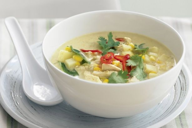 Thai chicken & corn chowder main image | menu | Pinterest
