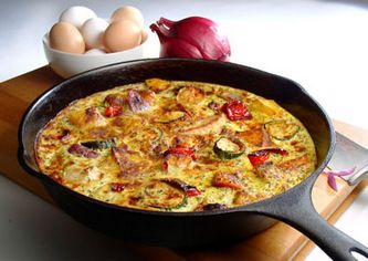 Basic Frittata. Results: baking it in cast-iron was really fast! I ...