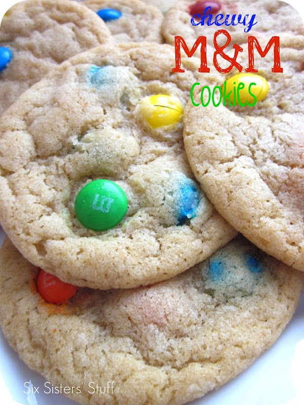 Chewy M&M Cookies.