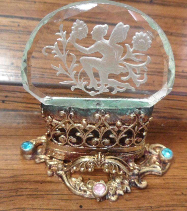 vintage jeweled business card holder