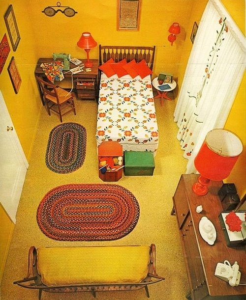 The yellow room all things 60s 70s pinterest for Retro 60s bedroom ideas
