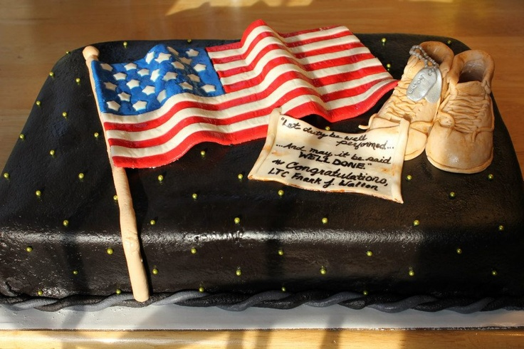 Army Retirement Cake Images : Military Retirement Cakes Cake Ideas and Designs
