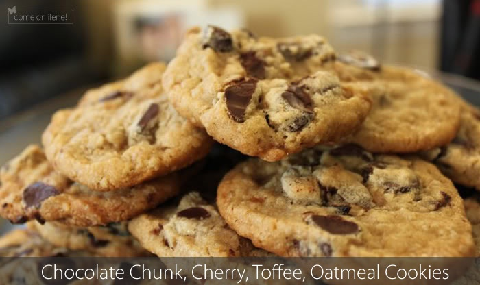 Cherry Chocolate-Chunk Oatmeal Toffee Cookies... YUM YUM!