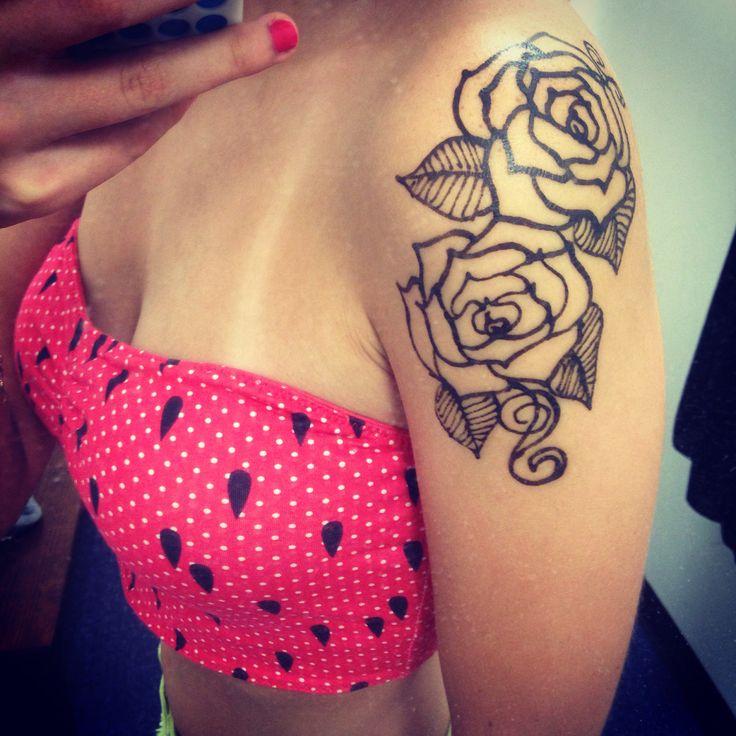 Pin by anastasia faith on body modification ideas pinterest for Rose henna tattoo