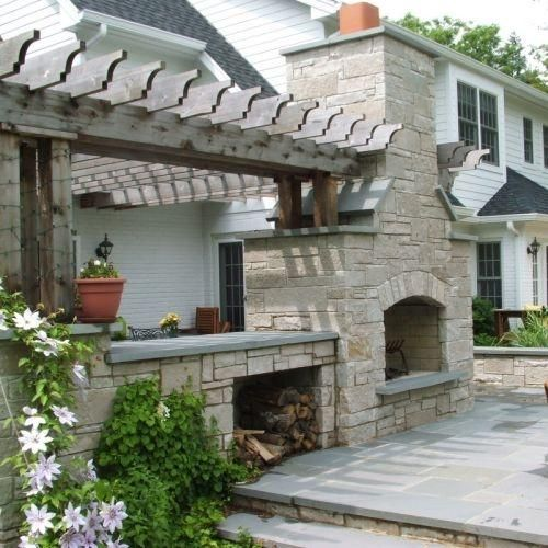 Double Sided Fireplace Home Sweet Home Landscape Pinterest
