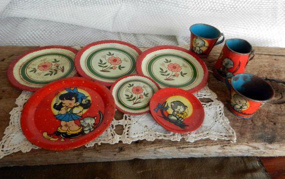 Oh So Adorable Vintage Tea Set : So Cute
