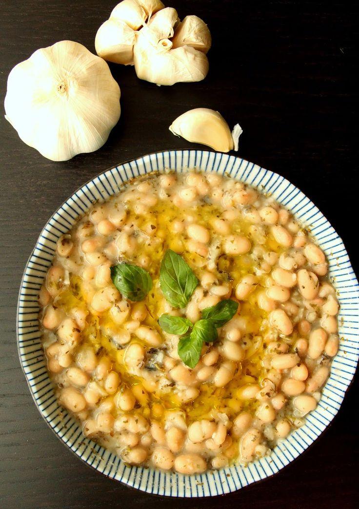 white beans in lemon garlic sauce | Mi Delicias:) | Pinterest