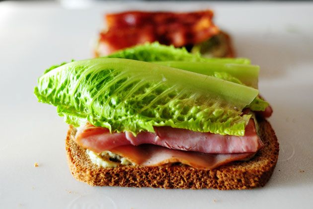 bacon, thin cheddar, lettuce, tomato, sun dried tomato and pesto with ...