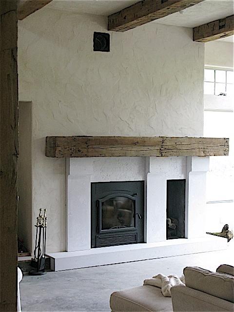 Concrete Fireplace Home Pinterest
