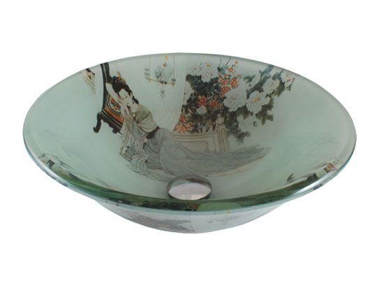 Glass Bathroom Vessel Sinks-Glass Vessel Sink - Asian Traditional