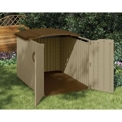 Suncast glidetop outdoor storage shed