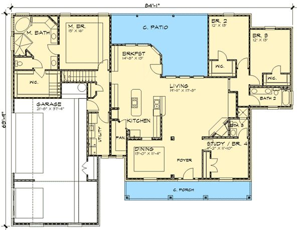 Country Craftsman Corner Lot Country House Plans Home Designs