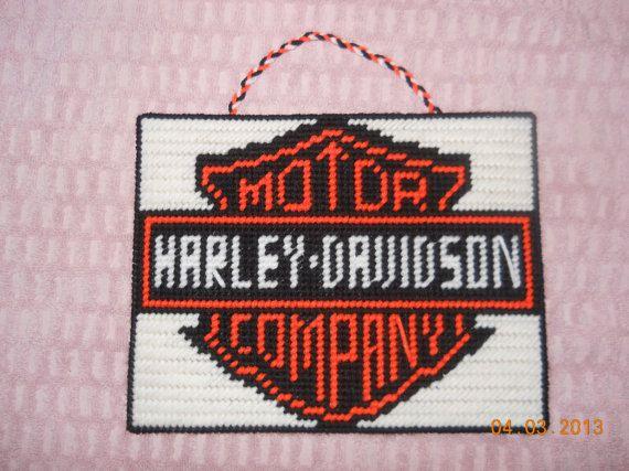 Free Plastic Canvas Patterns Harley-Davidson