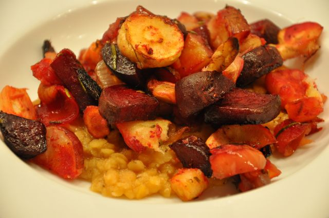 Roasted Root Vegetables With Red Lentils | Favorite Recipes | Pintere ...