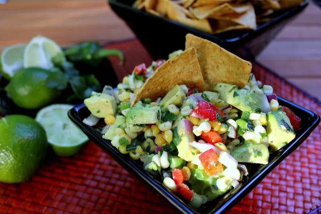 Corn and Avocado Salsa | Snacks and Starters | Pinterest