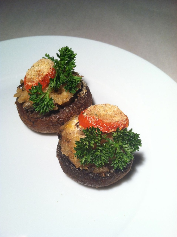 wild mushroom-stuffed mushrooms with wild rice and herbed goat cheese ...