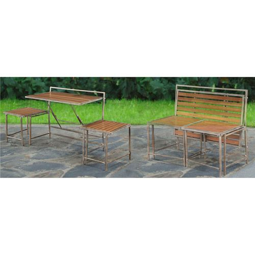 Palma Small Spaces Converting Bench To Bistro Set Seats 2