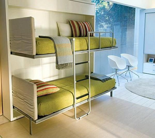 Convertible wall mounted bunk beds hotel elements 3 for Wall mounted loft bed plans