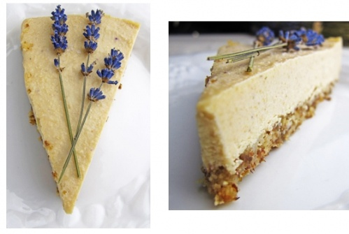 lavender yogurt cheesecake with kaffir lime flavored strawberries ...