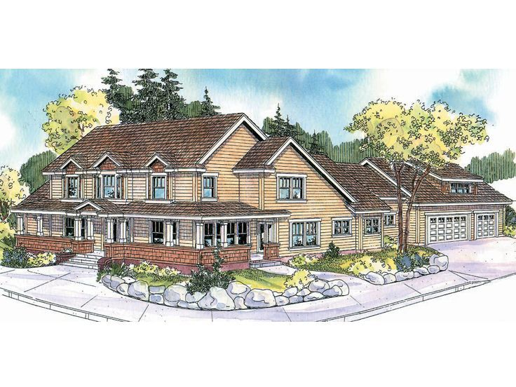 Corner lot house plan 051h 0156 i can dream pinterest Corner lot home designs