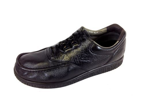 Shoes comfort black leather lace up casual oxfords mens 13 m ebay