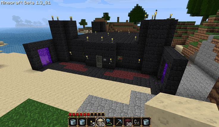 Minecraft house made out of obsidian 2Minecraft Obsidian House