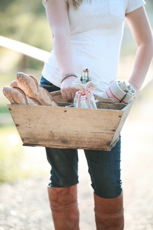 Rustic Wood Tool Caddy from Dreamy Whites | Friday Favorites at www.andersonandgrant.com
