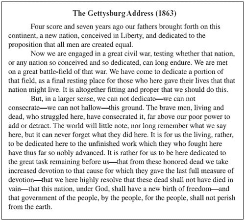 gettsburg address You might be surprised to learn that each year, hundreds of people discover that  they have a long-lost copy of the gettysburg address at least.