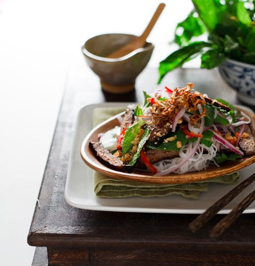 and rice noodle salad (Goi Bo) A fantastic and fast Vietnamese beef ...