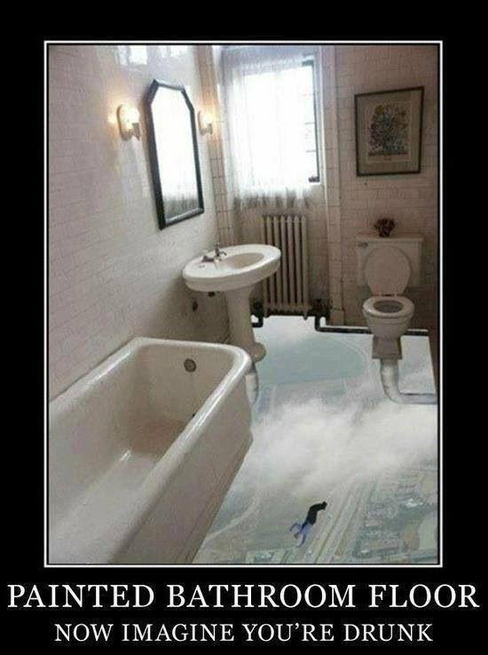 Crazy bathroom floor bathrooms pinterest for Crazy bathroom design