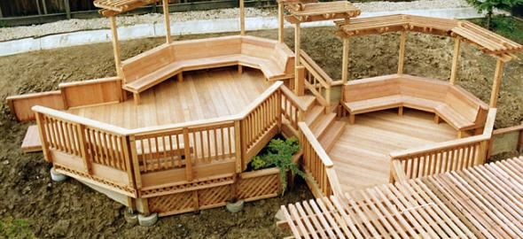 This deck created with redwood empire construction heart grade redwood