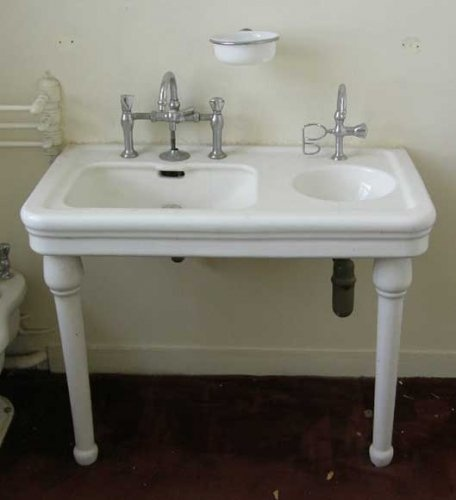 Farmhouse Sink For Bathroom : Farmhouse bathroom sink would make nice his and hers. Sorry honey ;)