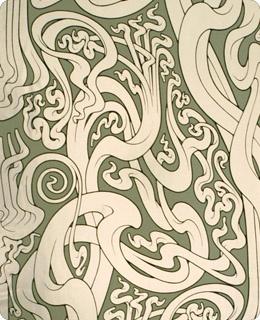Art nouveau inspired wallpaper art deco art nouveau for Art nouveau wallpaper uk