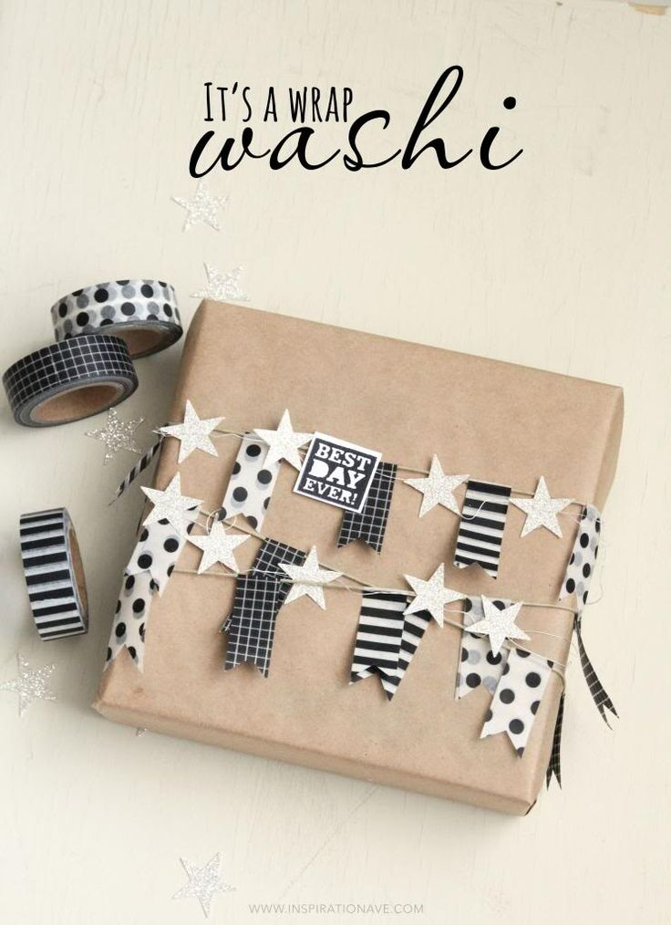 use washi tape to snazz up your gift wrapping