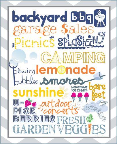 Summer {Free} Printable