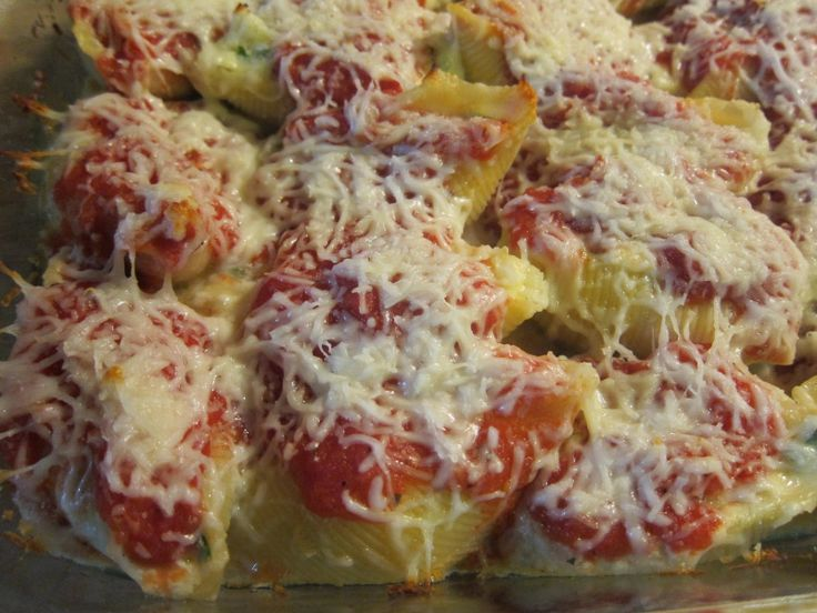 Stuffed Shells (with Kale, Ricotta, Parmesan, and Mozzarella) | The ...