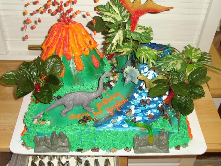 Dinosaur cake Decorating ideas (cupcakes/cakes) Pinterest