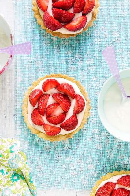 Strawberry tartlets with mascarpone cream. #tartlets